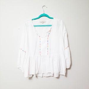 LOFT flowy white blouse